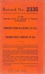 Dorothy Stone Blackwell, et al. v. Virginia Trust Company, et al.