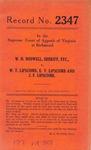 W. H. Boswell, Sheriff, etc. v. W. T. Lipscomb, E. V. Lipscomb and J. F. Lipscomb
