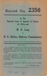 M. H. Long v. H. G. Shirley, State Highway Commissioner