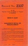Minton W. Talbot v. Massachusetts Mutual Life Insurance Company