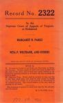Margaret N. Parks v. Nita P. Wiltbank, et al.