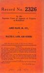 James Mann, Jr., etc. v. Walter E. Land, et al.