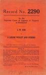 J. W. Ash v. J. Louise Wesley, et al.