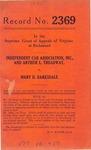 Independent Cab Association, Inc. and Arthur L. Tredway v. Mary D. Barksdale
