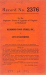 Richmond Food Stores, Inc. v. City of Richmond