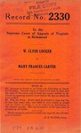 W. Clyde Locker v. Mary Frances Carter