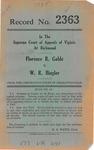 Florence R. Gable v. W. R. Bingler