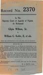 Gilpin Willson, Sr. v. William G. Kable, II, et al.