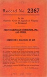 First Buckingham Community, Inc. and Third Buckingham Community, Inc. v. Gertrude E. Malcolm, et al.