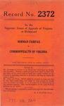 Norman Fairfax v. Commonwealth of Virginia