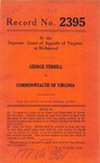 George Ferrell v. Commonwealth of Virginia