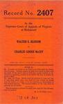 Walter E. Bloxom v. Charles Goode McCoy