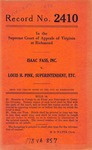 Isaac Fass, Inc. v. Louis H. Pink, Superintendent of Insurance of the State of New York, as Liquidator of The Auto Mutual Indemnity Company