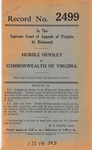 Hurdle Hensley v. Commonwealth of Virginia
