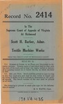 Scott H. Barber, Administrator, etc. v. Textile Machine Works