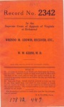Wrendo M. Godwin, Receiver, etc. v. W. W. Kerns, M.D.