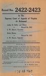 Luther H. Roller, et al. v. S. W. Shaver, Executor; and, Bettie Hinton v. S. W. Shaver, Executor