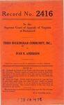 Third Buckingham Community, Inc., et al. v. Ivan N. Anderson