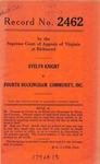 Evelyn Knight v. Fourth Buckingham Community, Inc.