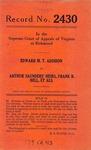 Edward M. T. Addison v. Arthur Saunders' Heirs, Frank B. Bell, et al.