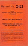 Iva Ellett Cheatwood, Administratrix, etc. v. Virginia Electric and Power Company
