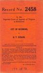 City of Richmond v. H. T. Eubank