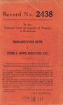 Margaret Flinn Howe v. Ethel C. Howe, Executrix, etc.