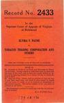 Elvira V. Payne v. Tobacco Trading Corporation, et al.