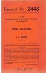 S. P. Powell, et al. v. J. Q. Adams