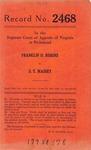 Franklin D. Robins v. S. T. Massey