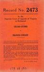 Lillian Stubbs v. Frances Cowden