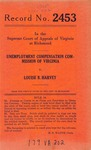 Unemployment Compensation Commission of Virginia v. Louise B. Harvey