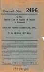 Grand Piano Company, Inc. v. T. A. Lewis, et al.
