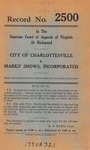 City of Charlottesville v. Marks' Shows, Inc.