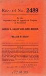 Samuel A. Gallop and James Riddick v. William M. Sharp