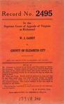 W. J. Gandy v. County of Elizabeth City