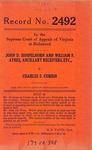 John D. Hospelhorn and William F. Ayres, Ancillary Receivers, etc. v. Charles S. Corbin