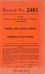 Virginia Public Service Company v. Commonwealth of Virginia