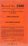 James M. McFarland v. Alice Lenoir McFarland