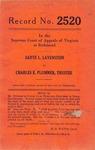 Sadye L. Lavenstein v. Charles E. Plummer, Trustee