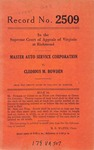 Master Auto Service Corporation v. Cledious M. Bowden