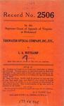 Tidewater Optical Company, Inc., etc. v. L. A. Wittkamp