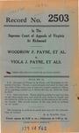 Woodrow F. Payne, et al. v. Viola J. Payne, et al.