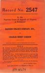Eastern Finance Company, etc. v. Charles Henry Gordon