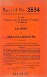 P. H. Drewry v. John R. Doyle, Receiver, et al.