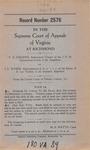 T.X. Parsons, Sustituted Trustee of the J.P.M. Simmerman Estate, et al., v. J.L. Wysor, Administrator d.b.n.c.t.a. of the Estate of E. Lee Trinkle, deceased, et al.