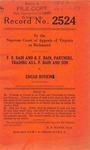 F.B. Bain and R.F. Bain, Partners, Trading as L.F. Bain and Son v. Edgar Boykin
