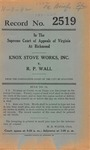 Knox Stove Works , Inc. v. R.P. Wall