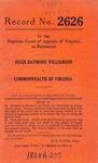 Hugh Raymond Williamson v. Commonwealth of Virginia