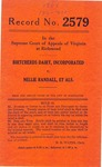 Birtcherds Dairy, Inc. v. Nellie Randall and Virginia Electric and Power Company